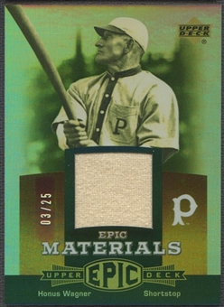 2006 Upper Deck Epic #HW Honus Wagner Materials Dark Orange Pants #03/25