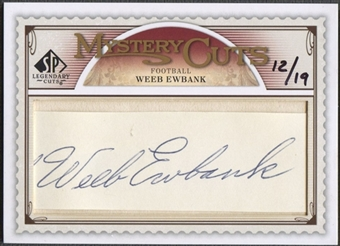 2009 SP Legendary Cuts #LCMC Weeb Ewbank Mystery Cut Auto #12/19