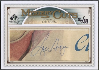2009 SP Legendary Cuts #LCMC Lou Groza Mystery Cut Auto #16/39
