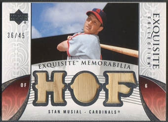 2006 Exquisite Collection #SM2 Stan Musial Memorabilia Bat #36/45
