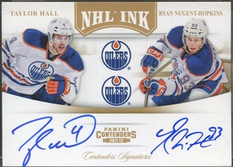 2011/12 Panini Contenders NHL Ink Duals Gold #1 Taylor Hall Ryan Nugent-Hopkins Autograph 16/25