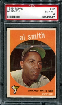 1959 Topps Baseball #22 Al Smith PSA 6 (EX-MT) *3647