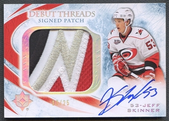 2010/11 Ultimate Collection #SDTJS Jeff Skinner Debut Threads Patch Auto #13/25