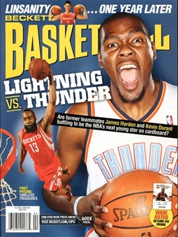 2013 Beckett Basketball Monthly Price Guide (#247 April) (Durant)