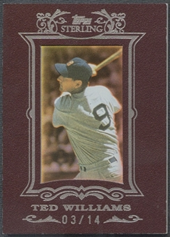 2007 Topps Sterling #118 Ted Williams Framed Burgundy #03/14