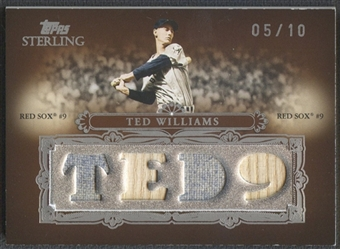 2007 Topps Sterling #SS45 Ted Williams Stardom Relics Quad Jersey Bat #05/10