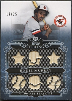 2010 Topps Sterling #SSR65 Eddie Murray Sterling Stats Relics Six Bat #19/25
