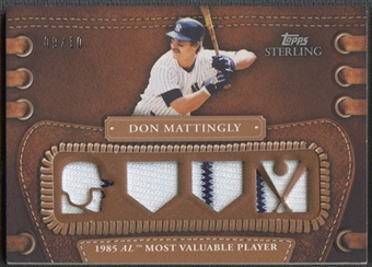 2010 Topps Sterling #LLR49 Don Mattingly Legendary Leather Relics Quad Jersey #09/10