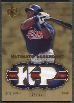 2006 Ultimate Collection #KP2 Kirby Puckett Legendary Materials Jersey #04/55