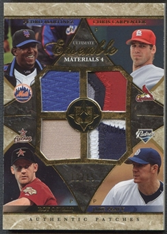2006 Ultimate Collection #CPOM Pedro Martinez, Chris Carpenter, Roy Oswalt, & Jake Peavy Quad Patch #12/15