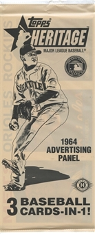 2013 Topps Heritage Baseball 1964 Advertising Panel Topper Pack