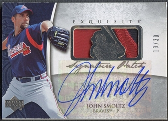 2006 Exquisite Collection #SM John Smoltz Signature Patch Auto #19/30