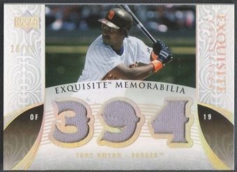 2006 Exquisite Collection #TG Tony Gwynn Memorabilia Platinum Jersey #10/15