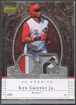 2007 Upper Deck Premier #KG2 Ken Griffey Jr. Dual Patch #47/75