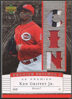 2007 Upper Deck Premier #KG Ken Griffey Jr. Remnants Triple Patch #88/89
