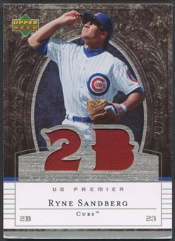 2007 Upper Deck Premier #RS Ryne Sandberg Dual Patch #47/75