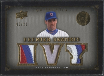 2008 Upper Deck Premier #RS Ryne Sandberg Swatches Patch #06/23