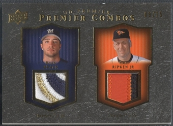 2008 Upper Deck Premier #BR Ryan Braun & Cal Ripken Jr. Combos Patch Gold #09/25