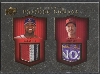 2008 Upper Deck Premier #SJ C.C. Sabathia & Randy Johnson Combos Patch Gold #21/25