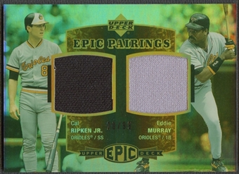 2006 Upper Deck Epic #RM Cal Ripken & Eddie Murray Pairings Jersey #20/99