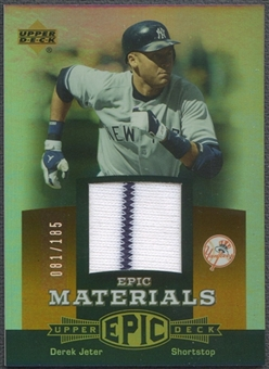 2006 Upper Deck Epic #DJ3 Derek Jeter Materials Dark Orange Jersey #081/185