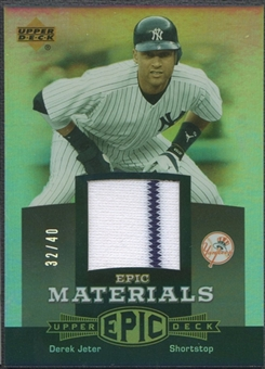 2006 Upper Deck Epic #DJ1 Derek Jeter Materials Grey Jersey #32/40