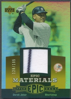 2006 Upper Deck Epic #DJ2 Derek Jeter Materials Orange Jersey #128/185