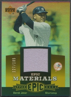 2006 Upper Deck Epic #DJ2 Derek Jeter Materials Orange Jersey #127/185