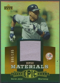 2006 Upper Deck Epic #DJ3 Derek Jeter Materials Dark Orange Jersey #080/185