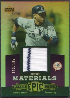 2006 Upper Deck Epic #DJ3 Derek Jeter Materials Dark Purple Jersey #113/185