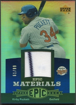 2006 Upper Deck Epic #KP2 Kirby Puckett Materials Blue Jersey #61/99