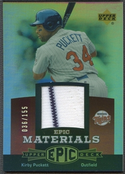 2006 Upper Deck Epic #KP2 Kirby Puckett Materials Red Jersey #036/155