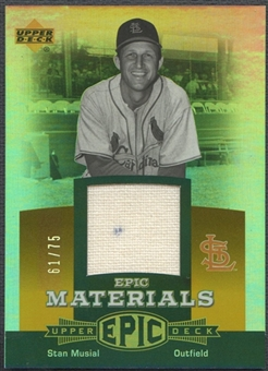 2006 Upper Deck Epic #SM2 Stan Musial Materials Orange Jersey #61/75