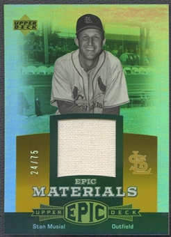 2006 Upper Deck Epic #SM2 Stan Musial Materials Orange Jersey #24/75