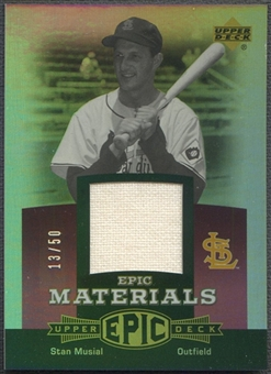 2006 Upper Deck Epic #SM1 Stan Musial Materials Dark Purple Jersey #13/50