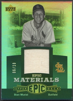 2006 Upper Deck Epic #SM2 Stan Musial Materials Green Jersey #06/10