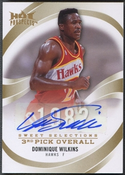 2008/09 Hot Prospects #SSDW Dominique Wilkins Sweet Selections Auto #16/25