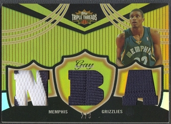 2006/07 Topps Triple Threads #82 Rudy Gay Relics Gold Jersey #2/9