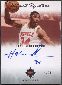2007/08 Ultimate Collection #HO Hakeem Olajuwon Signatures Auto #14/20