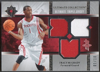 2006/07 Ultimate Collection #UJTM Tracy McGrady Triple Jersey #01/10