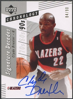 2006/07 Chronology #DCD Clyde Drexler Signature Decades Auto #84/90