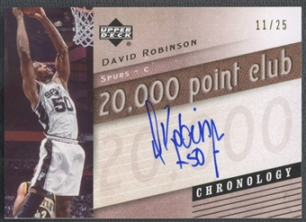 2006/07 Chronology #20KDR David Robinson 20,000 Point Club Auto #11/25