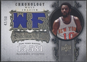 2007/08 Chronology #WF Walt Frazier Stitches in Time Jersey #42/50