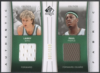 2006/07 SP Authentic #PB Larry Bird & Paul Pierce Fabrics Dual Jersey #093/100