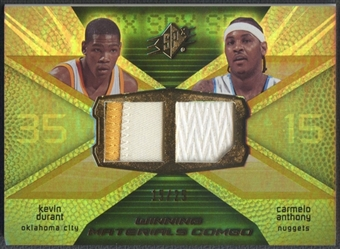2008/09 SPx #WMCAD Kevin Durant & Carmelo Anthony Winning Materials Combos Patch #15/25