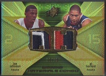 2008/09 SPx #WMCJH Joe Johnson & Al Horford Winning Materials Combos Patch #06/25