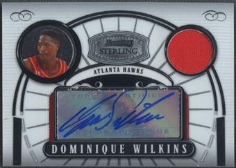 2007/08 Bowman Sterling #DWI Dominique Wilkins Jersey Auto #248/275