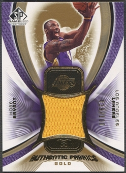 2005/06 SP Game Used #KB Kobe Bryant Authentic Fabrics Gold Jersey #029/100