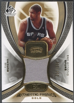 2005/06 SP Game Used #TD Tim Duncan Authentic Fabrics Gold Jersey #035/100