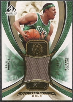 2005/06 SP Game Used #PP Paul Pierce Authentic Fabrics Gold Jersey #086/100